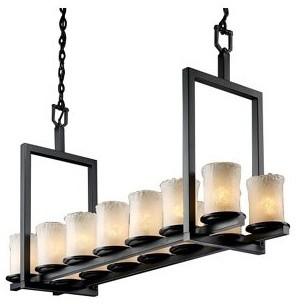 Veneto Luce Dakota Double Bar Linear Suspension by Justice Design Group modern-pendant-lighting