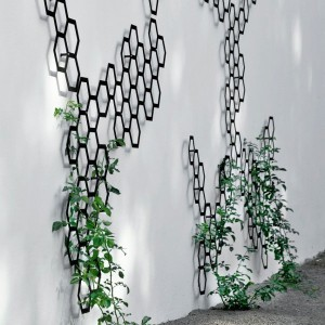 Metal Trellis contemporary fencing