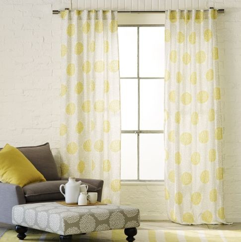 Spring Bloom Embroidered Window Panel contemporary-curtains
