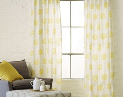 Spring Bloom Embroidered Window Panel contemporary curtains