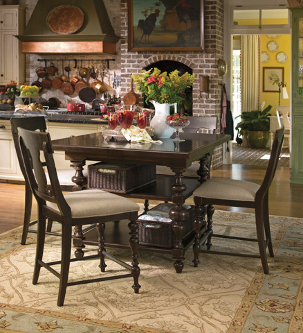 Paula Deen Gathering Height Kitchen Table Traditional Dining Tables By