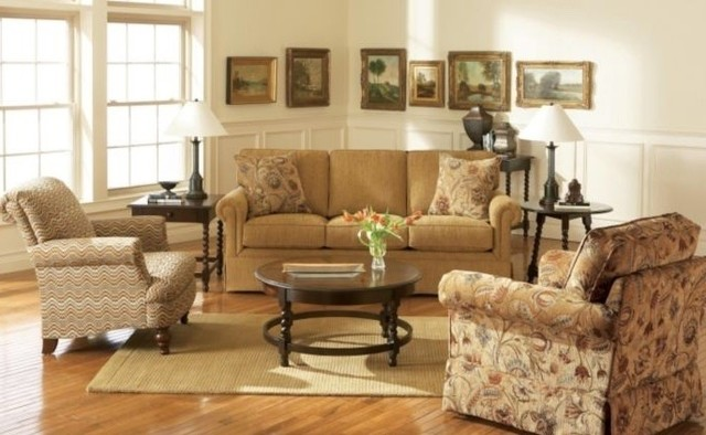 Broyhill Audrey 4 Piece Queen Sleeper Sofa Set Traditional Living Room Furniture Sets Salt