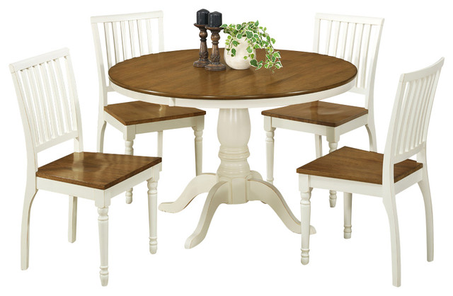 Monarch specialties 1840 5 piece round dining room set in for Traditional round dining room sets