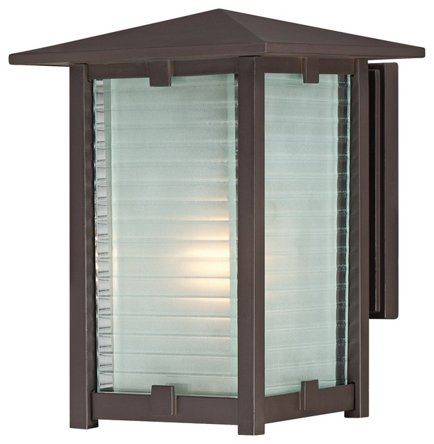 """Arts and Crafts - Mission Quoizel Cypress 7 1/2"""" Wide Bronze Outdoor Wall L modern-outdoor-lighting"""