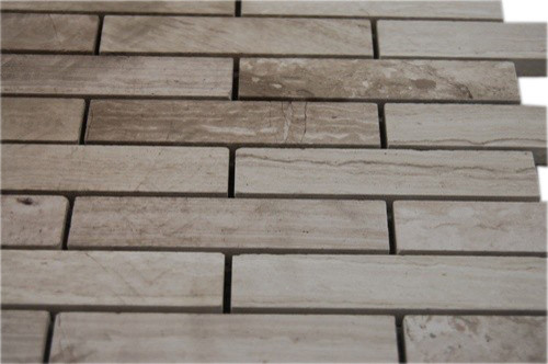 Wooden Beige Big Brick Pattern Marble Mosaic Tiles contemporary-tile