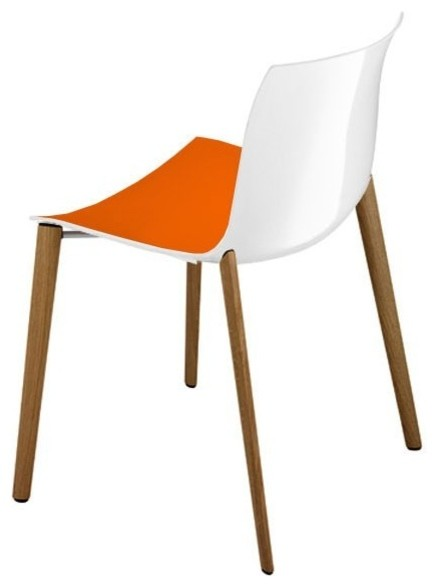 Catifa Chair Orange White Modern Dining Chairs By