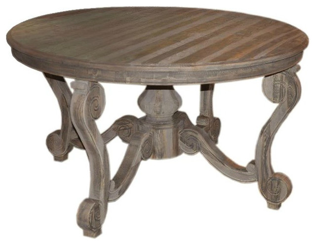 Antoine Reclaimed Wood Round Dining Table Rustic Dining Tables