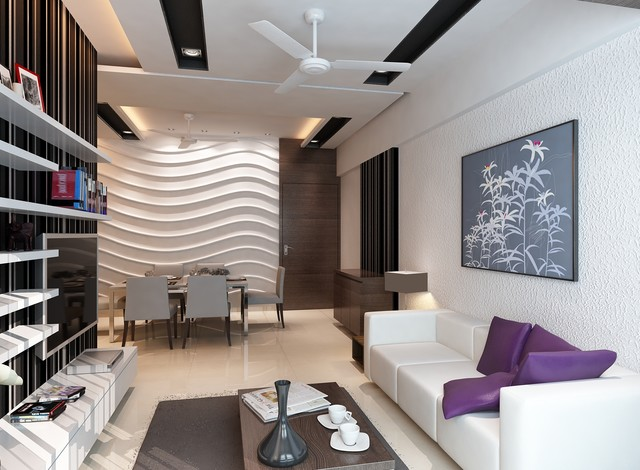 High end residential interior design project at borivali for Residential interior designs