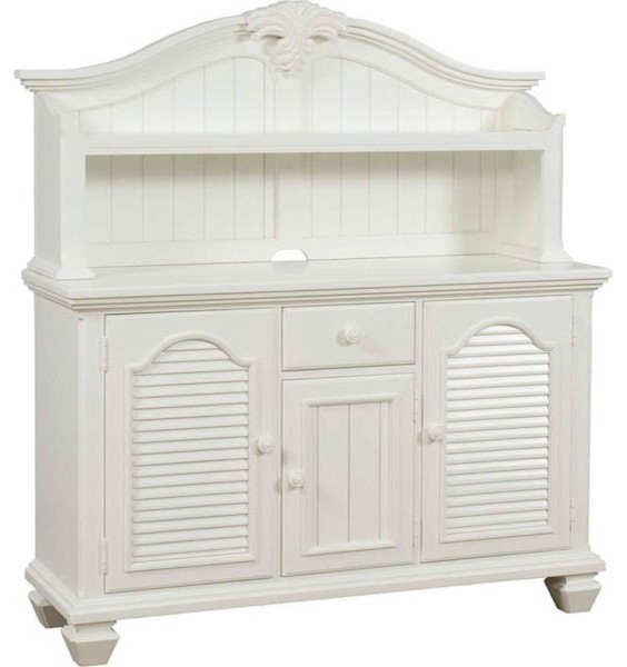 Broyhill Furniture - Mirren Harbor Server with Hutch in White - 4024-513-514 - Traditional ...