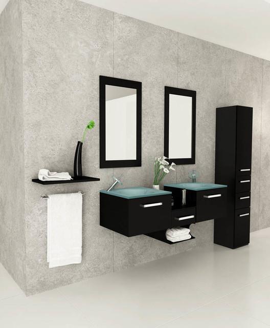 """58"""" Estrella Double Bathroom Vanity modern"""