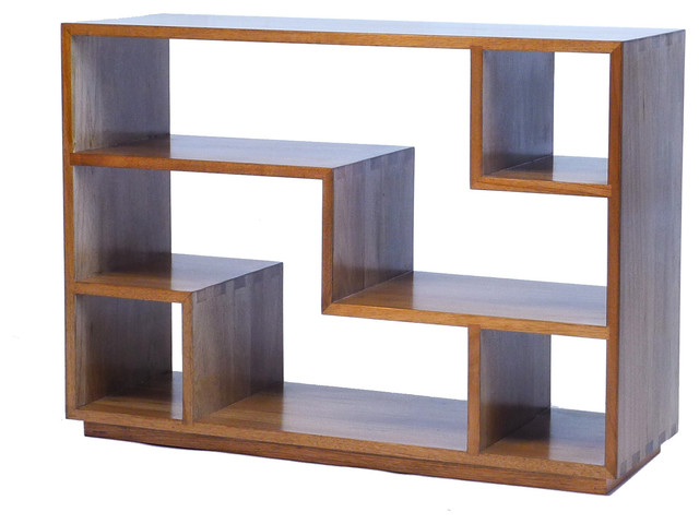tao small bookcase natural walnut modern bookcases
