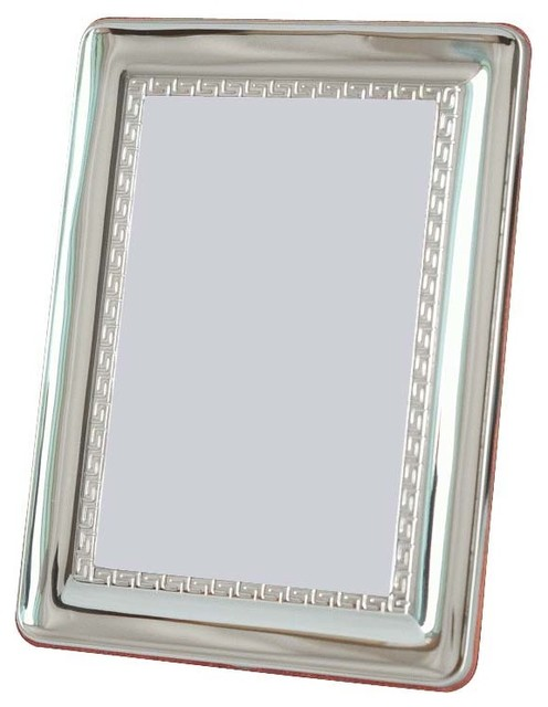 "5""x7"" Benoit II Silver Sterling Picture Frame contemporary-frames"