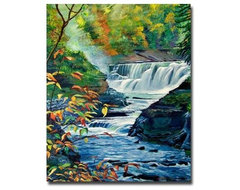 Geneese River in Autumn Canvas Art by David Lloyd Glover modern artwork