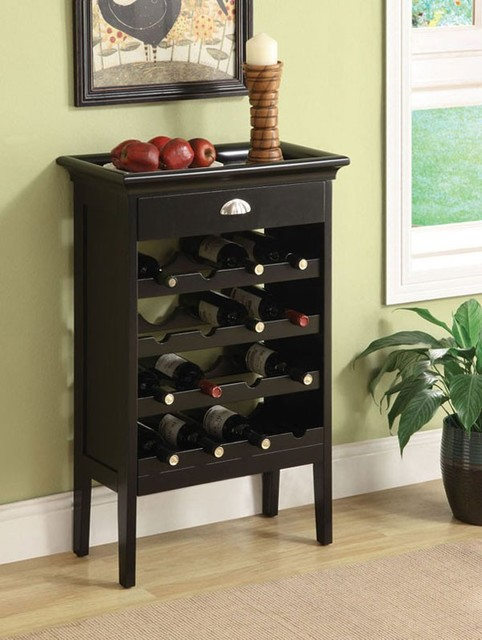 ACME Furniture - Richard Wenge Finish Wine Rack w/Brown Faux Marble Top - 97012 - Transitional ...