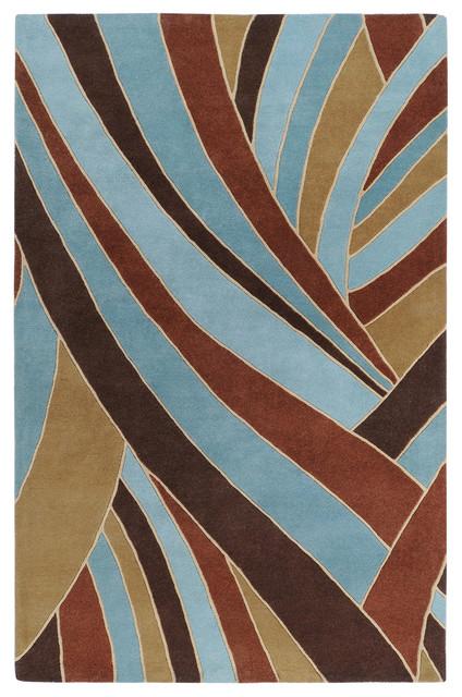 "Surya Forum FM-7002 2'6"" x 8' Chocolate Rug contemporary-rugs"