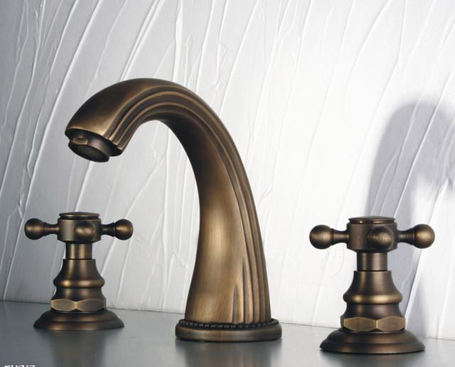 Brilliant Naples Satin Nickel Polished Brass Bathroom Faucet