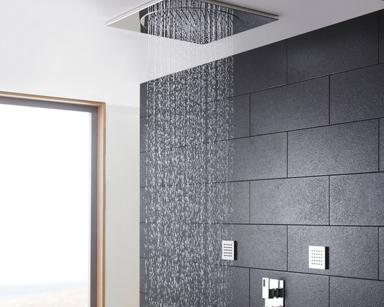 Hudson Reed - Contemporary Square Chrome Ceiling Fixed Designer Rainfall Shower Head - The Hudson Reed ceiling tile shower head is ideal for creating a sleek, minimal look and feel to any modern bathroom. Featuring a chrome finish to complement any decor, this high quality shower head delivers a refreshing rainfall style effect to awaken your senses.  19¾ (500mm) Square