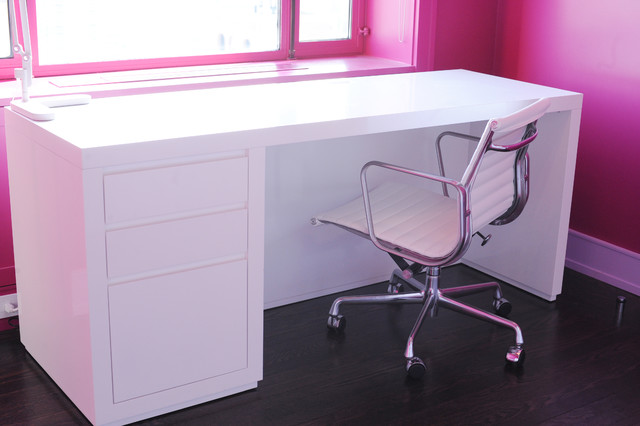 white custom desks modern desks and hutches new york by