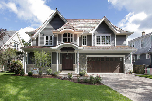 Please Help Us Decide On Siding Color And Stone also Stucco House Exteriors further 9922061656375994 as well 367254544589841477 also Stock Images Light Brick Home Double Arched Garage Image13320704. on houses with grey siding white trim