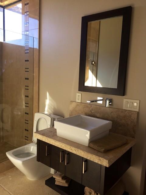 Rancho Mirage Residence modern-bathroom-mirrors