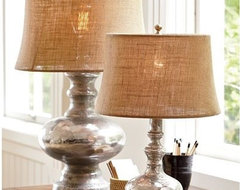 Antique Mercury Glass Table & Bedside Lamps contemporary-table-lamps