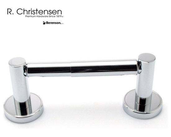 2212US26 Polished Chrome 2-Post Tissue Holder by R. Christensen - 8-1/2 inch long contemporary style 2-post tissue holder by R. Christensen in Polished Chrome.