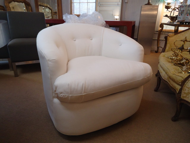 Marshmellow Swivel Club Chairs eclectic-living-room-chairs