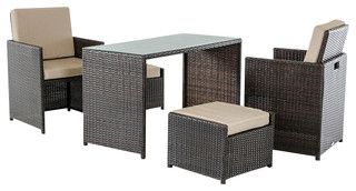 The Renata Balcony Outdoor Dining Set Is Perfect For Small Spaces. Its  Super Compact Design Storeu0027s Two Chairs And An Ottoman Under The Table In A  Sleek And ...
