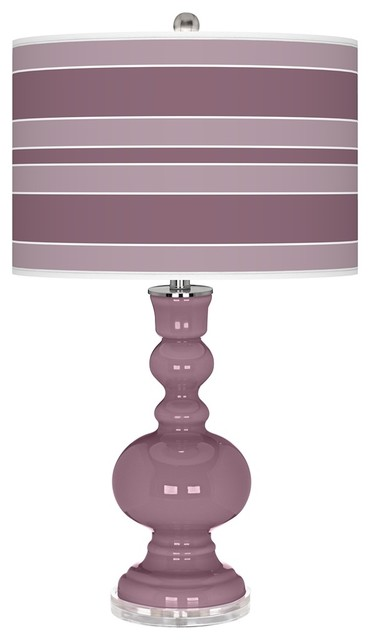 Contemporary Plum Dandy Bold Stripe Apothecary Table Lamp contemporary-table-lamps