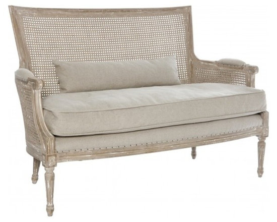 Shabby Chic Sale ~ Sale Ends Friday Febuary 15th - Isla Settee in Cane