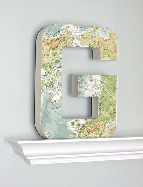 Large Vintage Map Letter, G by Flea Market Sunday -artwork