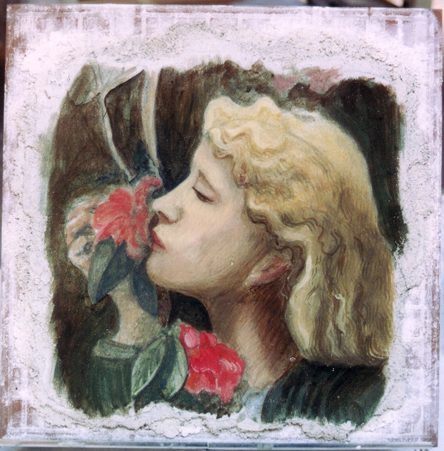 Rose Girl Fresco contemporary-artwork