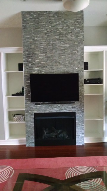 Custom Built in Fireplace and entertainment center - Modern - orlando - by Dan's Home ...