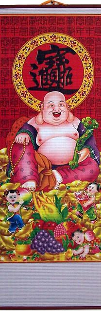 Splendid Buddha Chinese Scroll asian-artwork