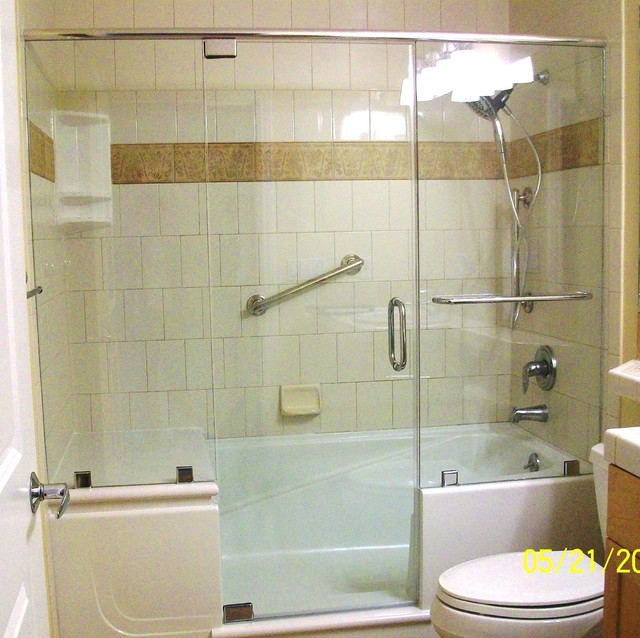 Walk in showers designs modern other metro by walk for Walk in tub bathroom designs