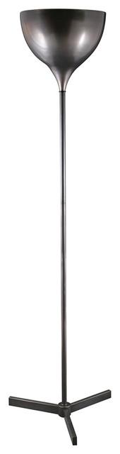 Contemporary Tripoli Oil-Rubbed Bronze Three Leg Torchiere Floor Lamp contemporary-floor-lamps