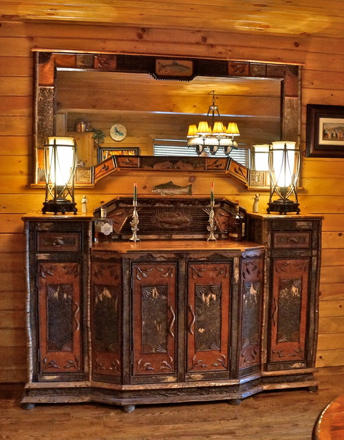Adirondack lake home furniture rustic buffets and for Furniture burlington wa
