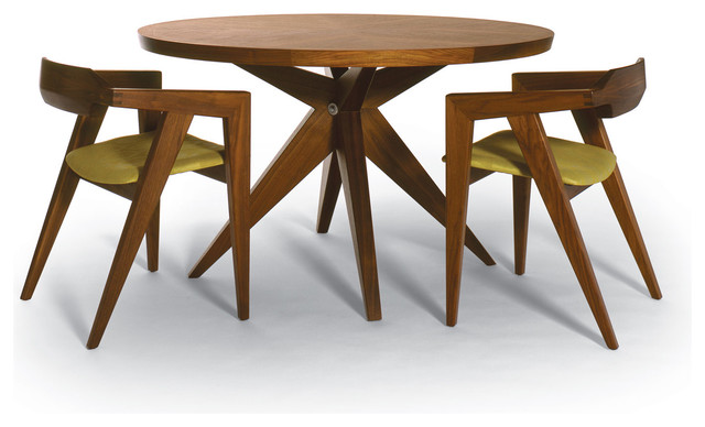 Bonfire Round Dining Table + V2 Dining Chairs - modern - furniture