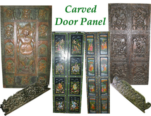 Carved Door Panel craftsman-home-decor