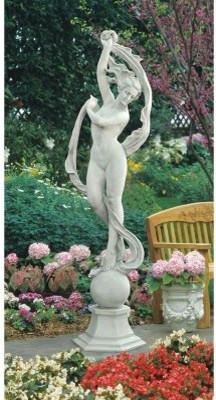 Design Toscano Goddess Aurora Statue - Estate modern-garden-statues-and-yard-art