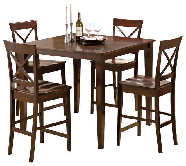 Steve Silver Cobalt 5 Piece Counter Height Table Set In