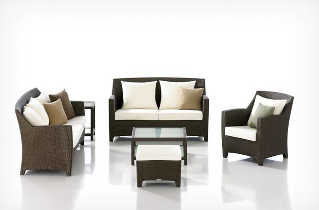 Temporale Rattan Sofa Set contemporary-outdoor-sofas