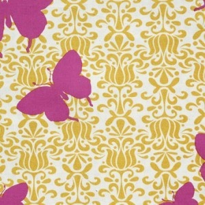 Mod-Butterfly Jubilee Raspberry eclectic wallpaper