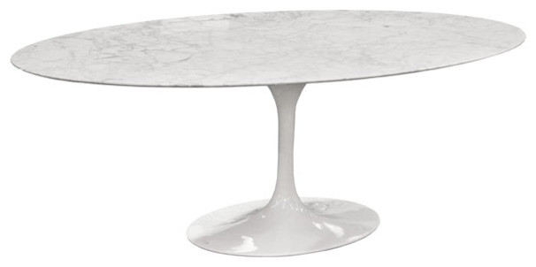 Eero Saarinen Oval Tulip Table Cararra Marble By Rove