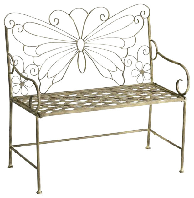 Butterfly Garden Settee Traditional Outdoor Benches By Chachkies