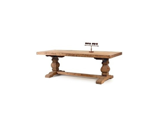"""Go Home - Swinderby Trestle Dining Table - Dimensions: 94.25"""" L x 39.25 """" D x 30.5 """" H"""