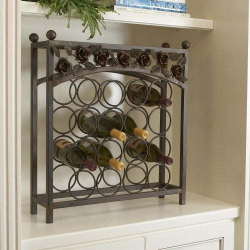 Betty Sewell Vin Rose 16-Bottle Wine Rack traditional wine racks