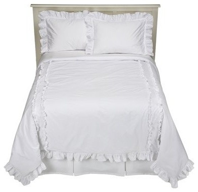 Simply Shabby Chic Heirloom Comforter Set, White - Traditional - Comforters And Comforter Sets ...