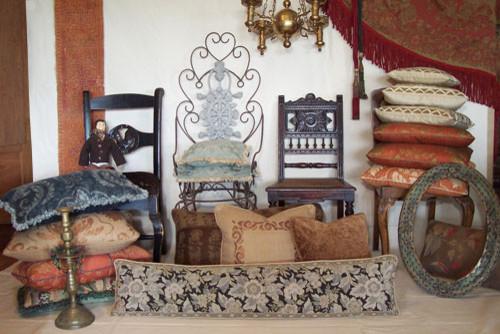 Custom & Ready Made Pillows ~ Old World Designer Pillows traditional-decorative-pillows