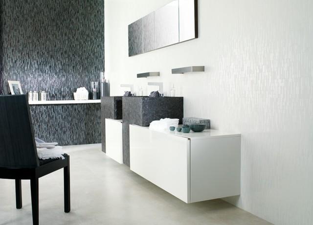 Porcelanosa v12399761 manhattan negro modern tile for Porcelanosa bathrooms prices